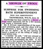 Shower of frogs