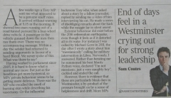 Article from The Times deputy political editor 1
