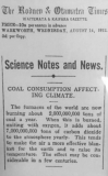 Climate change clipping 1912.