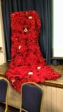 Poppies made by the WI in Trull, Somerset
