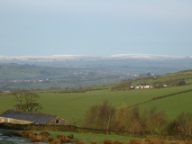Snow on the Bowland Fells
